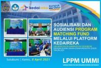 LPPM-UMMI Sosialiasikan Program Matching Fund melalui Platform Kedaireka dengan Mitra/DUDI